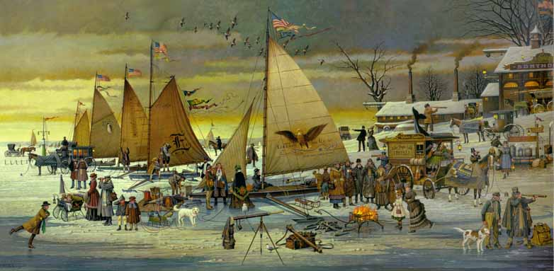 Charles Wysocki - Ice Riders of Chesapeake Bay