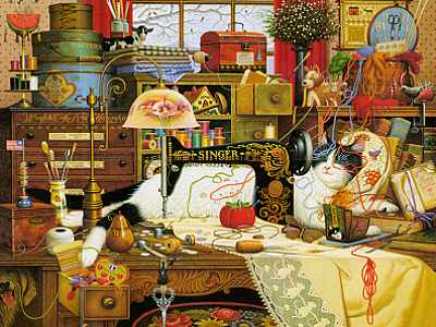 Charles Wysocki - Maggie the Messmaker - Framed