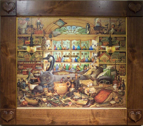 Charles Wysocki - Elmer and Loretta Hangin' Out - Framed